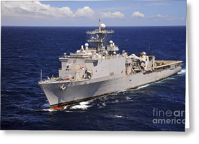 Uss Comstock Transits The Indian Ocean Greeting Card by Stocktrek Images