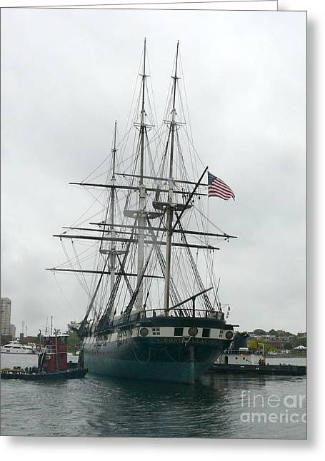 Constellations Greeting Cards - USS Constellation in Baltimores Inner Harbor Greeting Card by Celestial Images