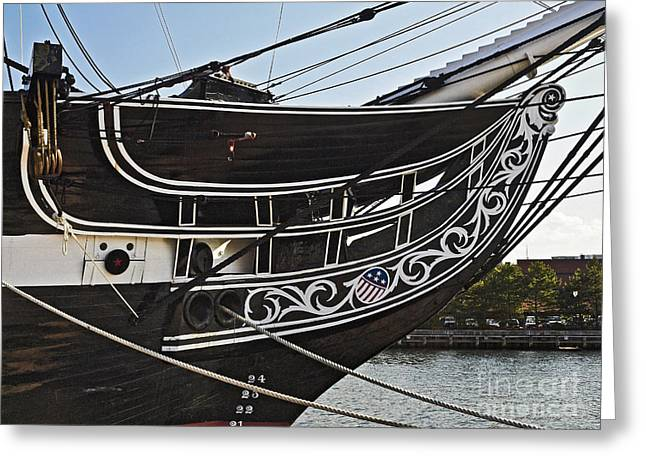 Historic Ship Greeting Cards - Uss Constitution Bos108 Greeting Card by Howard Stapleton