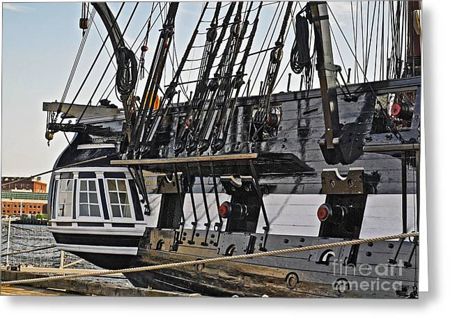 Captains Quarters Greeting Cards - Uss Constitution Bos120 Greeting Card by Howard Stapleton