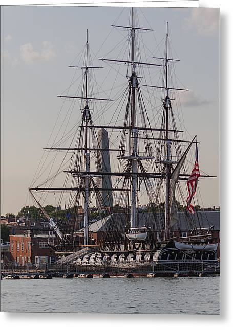 Boston Ma Greeting Cards - USS Constitution Greeting Card by Brian MacLean