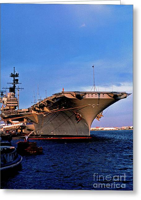 Military Might Greeting Cards - USS Forrestal CV-59 Greeting Card by Thomas R Fletcher