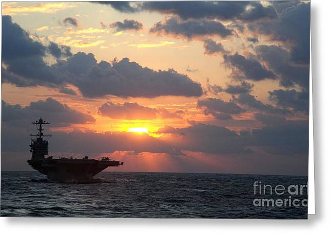 Carrier Greeting Cards - USS George Washington Greeting Card by Celestial Images
