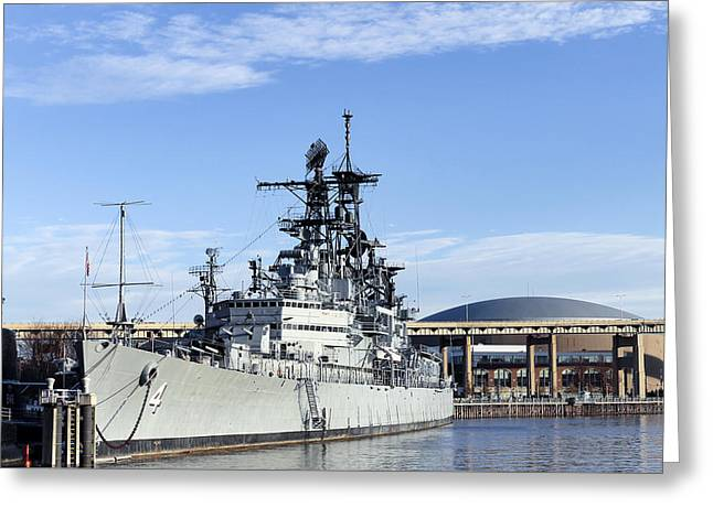 Skyway Greeting Cards - USS Little Rock 2 Greeting Card by Peter Chilelli