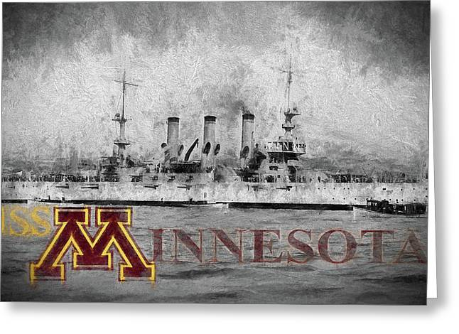 Uss Minnesota Greeting Card by JC Findley