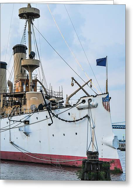 Wwi Greeting Cards - USS Olympia Greeting Card by William Krumpelman