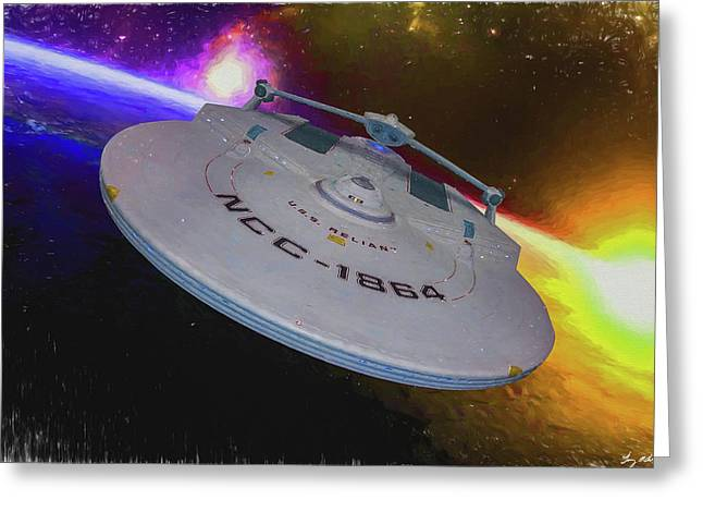 Science Greeting Cards - USS Reliant - Oil Greeting Card by Tommy Anderson