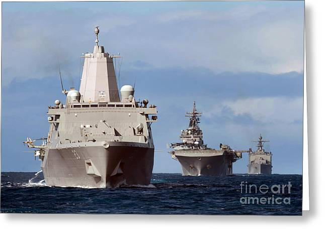 Uss Rushmore Greeting Card by Celestial Images