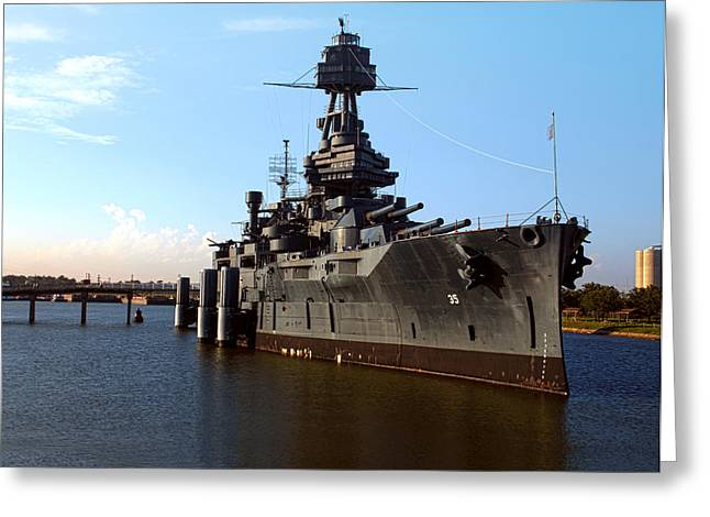 Joshua House Greeting Cards - USS Texas Greeting Card by Joshua House