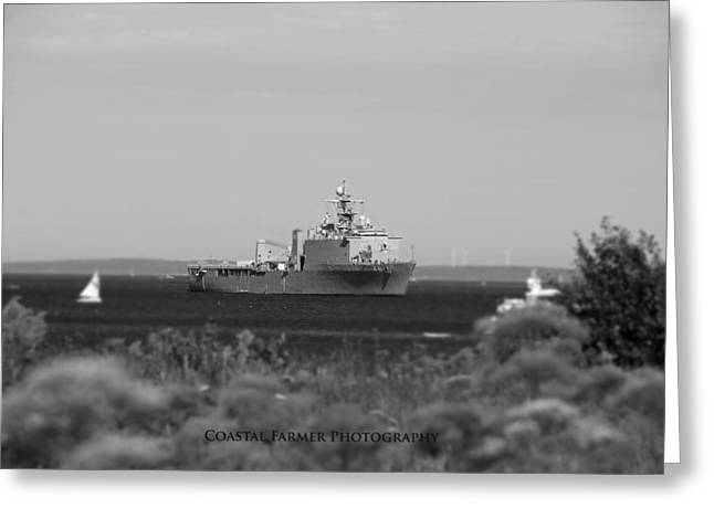 Coastal Maine Greeting Cards - USS Tortuga Greeting Card by Becca Brann