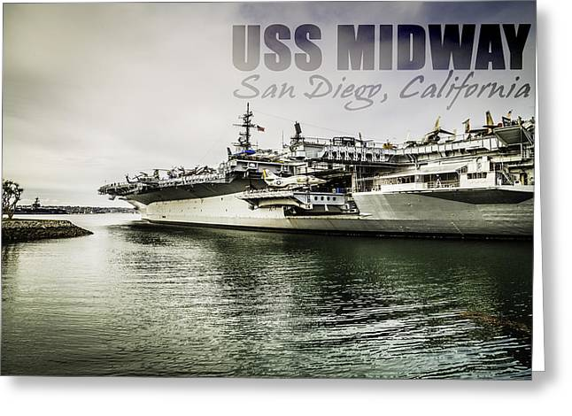 Uss Midway Greeting Card by Nancy Forehand