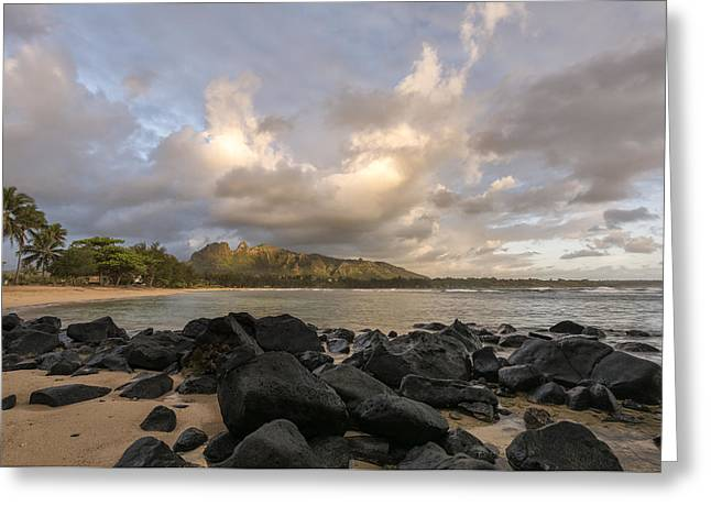 Usual Day In Kauai Greeting Card by Jon Glaser