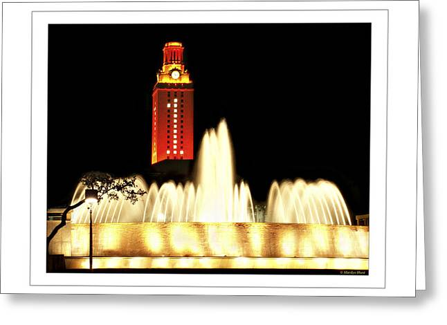 Marilyn Hunt Greeting Cards - UT Tower Poster Greeting Card by Marilyn Hunt