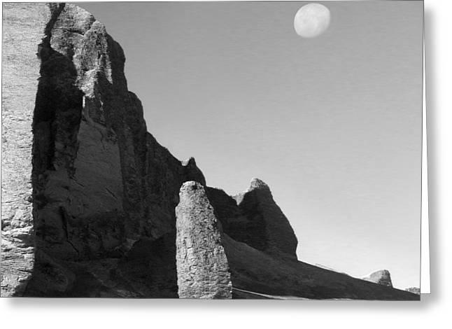 Surreal Landscape Digital Art Greeting Cards - Utah Outback 32 Greeting Card by Mike McGlothlen