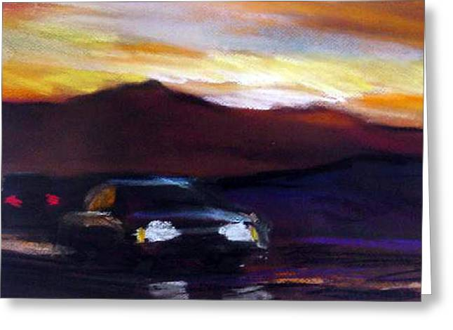 Road Trip Pastels Greeting Cards - Utah Sunset Greeting Card by George Grace