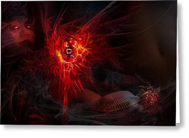 Evil Greeting Cards - Utherworlds Layashnan Greeting Card by Philip Straub