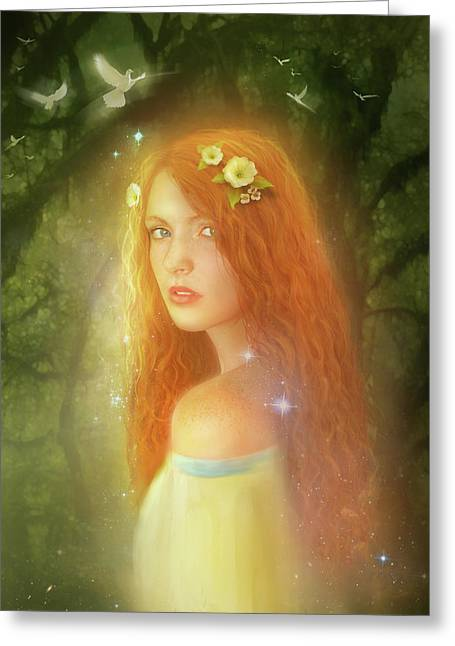 Redhead Greeting Cards - Utherworlds Lealinnia Greeting Card by Philip Straub