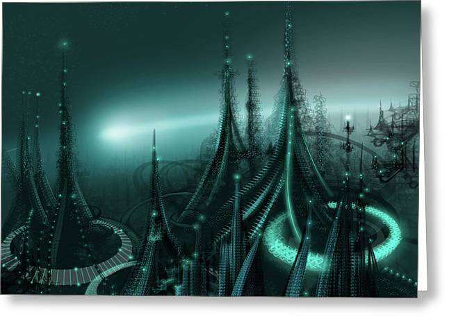Luminescent Greeting Cards - Utopia Greeting Card by James Christopher Hill