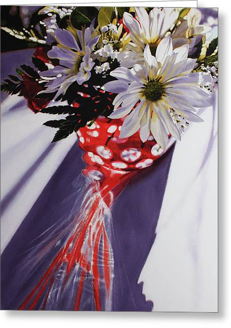 Super Realism Paintings Greeting Cards - V Day 2011 Greeting Card by Denny Bond