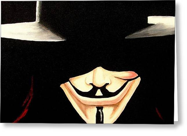 V For Vendetta Greeting Card by Al  Molina