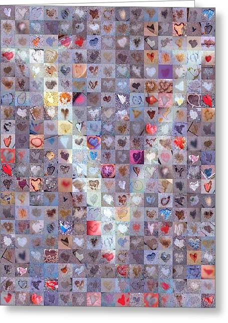 Love Letter Greeting Cards - V in Confetti Greeting Card by Boy Sees Hearts