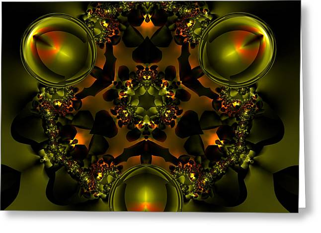Abstract Colorful Algorithmic Digital Contemporary Greeting Cards - V Plate 227 Greeting Card by Claude McCoy
