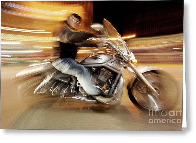 Superbikes Greeting Cards - V Rod Greeting Card by Glennis Siverson