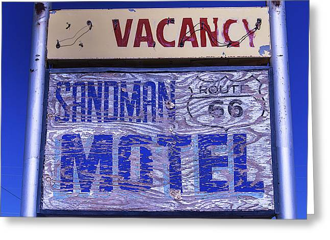Worn Down Greeting Cards - Vacancy Sign Greeting Card by Garry Gay