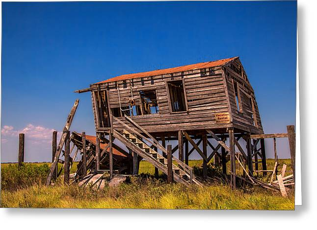 Shack Greeting Cards - Vacation Rental Greeting Card by Micah Goff
