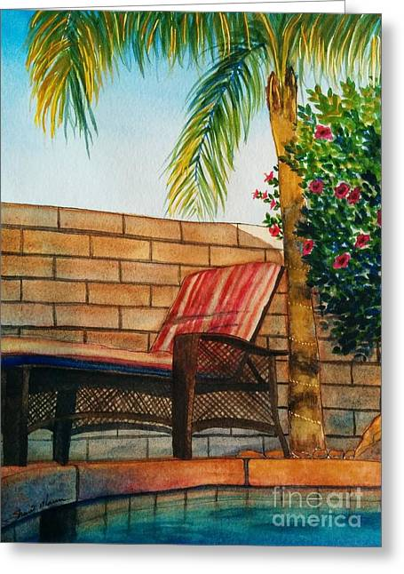 Lounge Paintings Greeting Cards - Vacation Greeting Card by Shari Monner