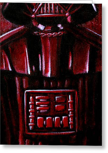 Scifi Paintings Greeting Cards - Vader Greeting Card by Marlon Huynh