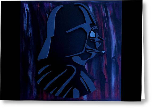 The Dark Side Greeting Card by Michael Bergman