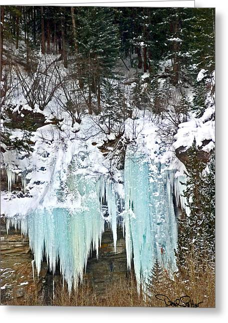Vail Ice Falls Greeting Card by David Salter