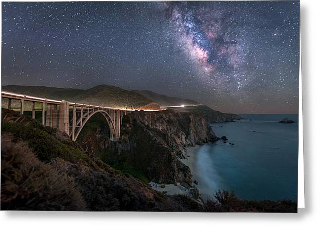 Bixby Bridge Greeting Cards - Vain Greeting Card by Jude Allen