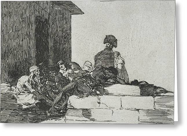 Vain Laments From The Series The Disasters Of War Greeting Card by Francisco Goya