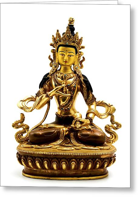 White Photographs Greeting Cards - Vajrasattva Greeting Card by Fabrizio Troiani