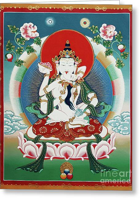 Vajrasattva Yuganadha  Greeting Card by Sergey Noskov