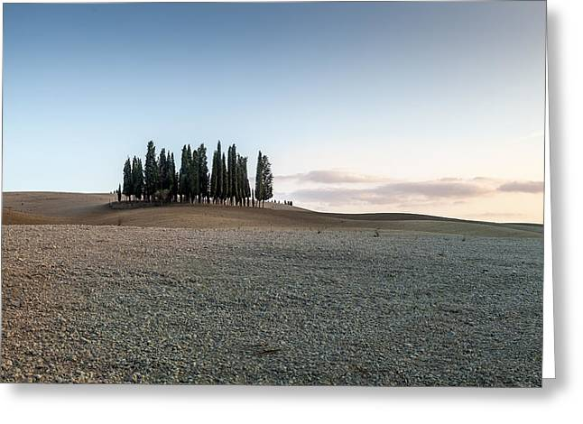 Tuscan Sunset Greeting Cards - Tuscany landscape Greeting Card by Paolo  Banci
