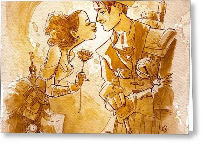 valentine Greeting Card by Brian Kesinger