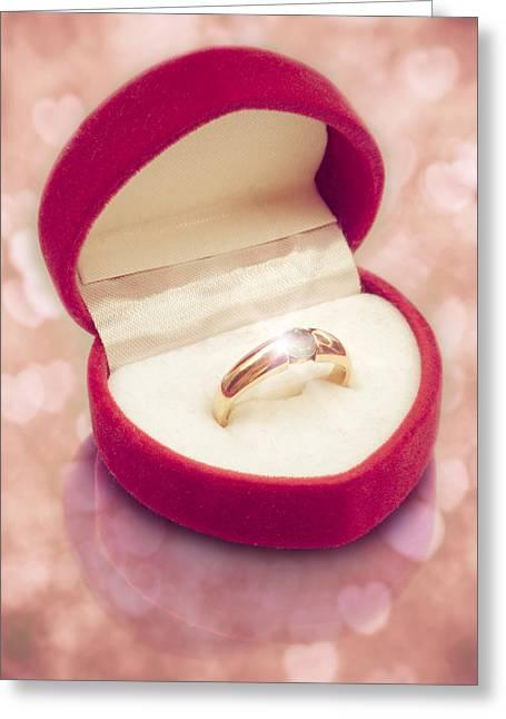 Valentine Ring Greeting Card by Wim Lanclus