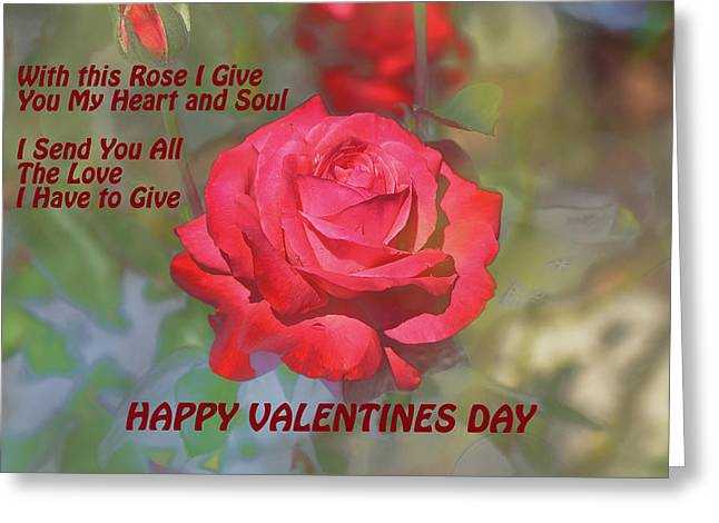 Valentines Day Heart And Soul Greeting Card by Linda Brody