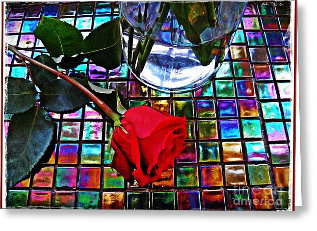 Multicolored Roses Greeting Cards - Valentines Day Greeting Card by Sarah Loft