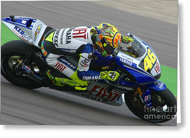 Sports Framed Photo Greeting Cards - Valentino Rossi Greeting Card by Henk Meijer Photography