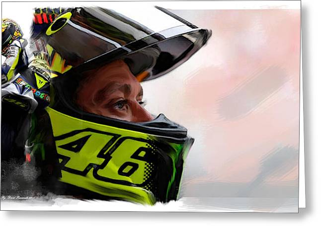 Valentino Rossi  The King Returns  Greeting Card by Iconic Images Art Gallery David Pucciarelli