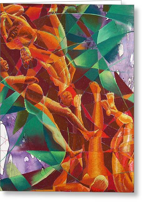 Figure Drawing Greeting Cards - Valley Of Abstraction Greeting Card by Ken Meyer jr