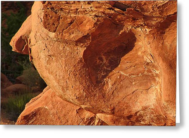 Valley of Fire - Nevada's Crown Jewel Greeting Card by Christine Till