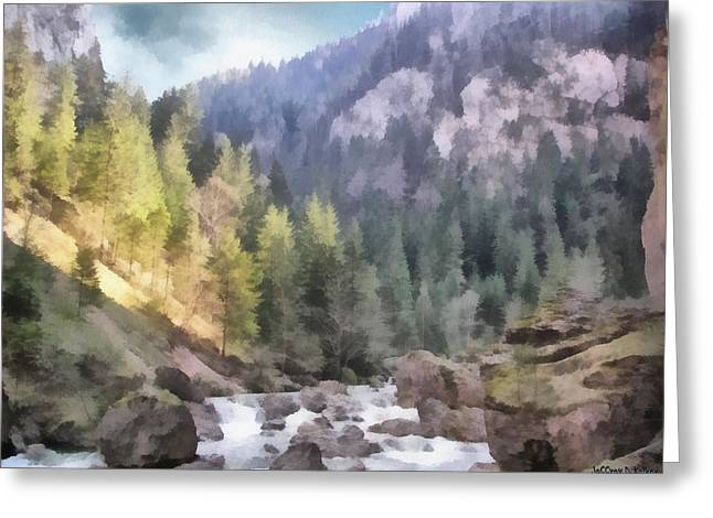 Carpathian Mountains Greeting Cards - Valley of Light and Shadow Greeting Card by Jeff Kolker