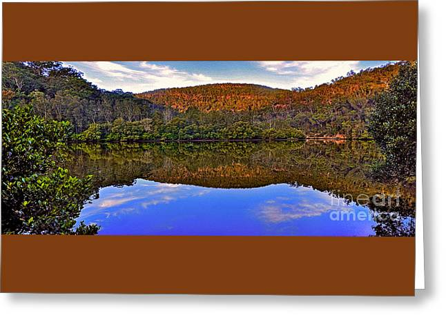 Reflection Of Trees In Water Greeting Cards - Valley of Peace Greeting Card by Kaye Menner