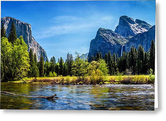 Colorful Photos Greeting Cards - Tranquil Valley Greeting Card by Az Jackson