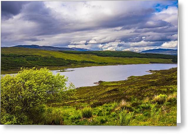 Scenic Greeting Cards - Valley of the Loch Greeting Card by Steven Ainsworth
